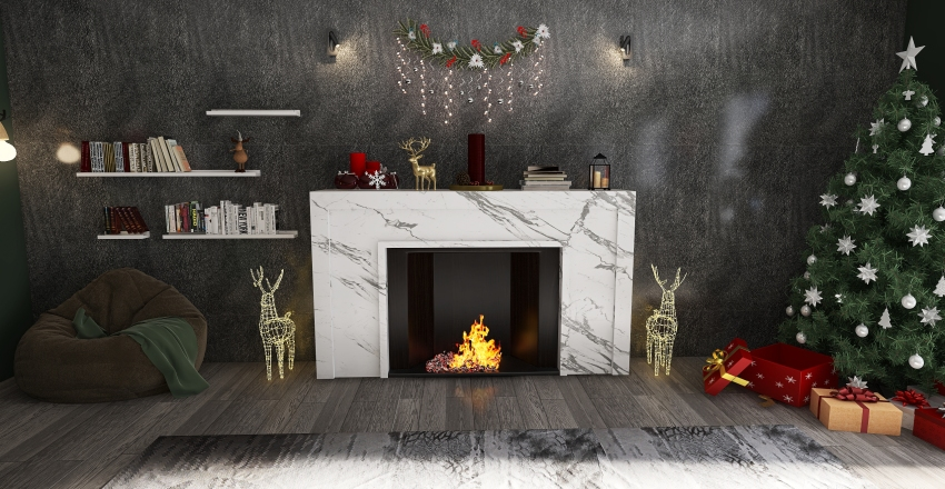 Something for new year Interior Design Render