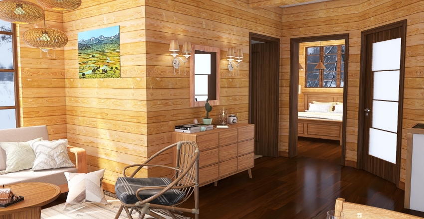 Apartment in Mountains Interior Design Render