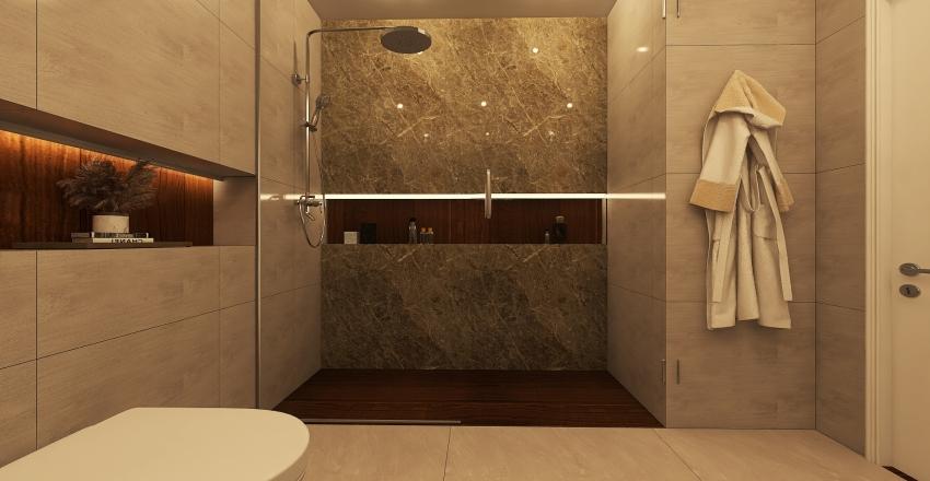 Apartment in scandinavian style Interior Design Render