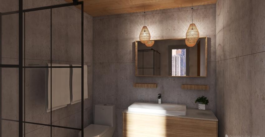 Peaceful City Interior Design Render