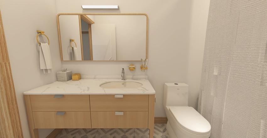 Boho Two Story Home Interior Design Render