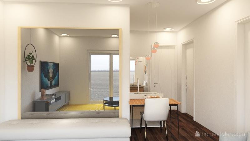 Casa Pequena Moderna Interior Design Render