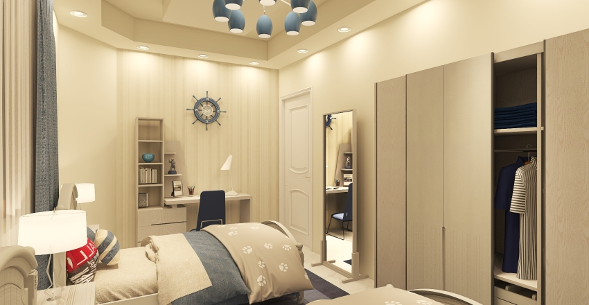 Second  Floor -  Villa 3 Interior Design Render
