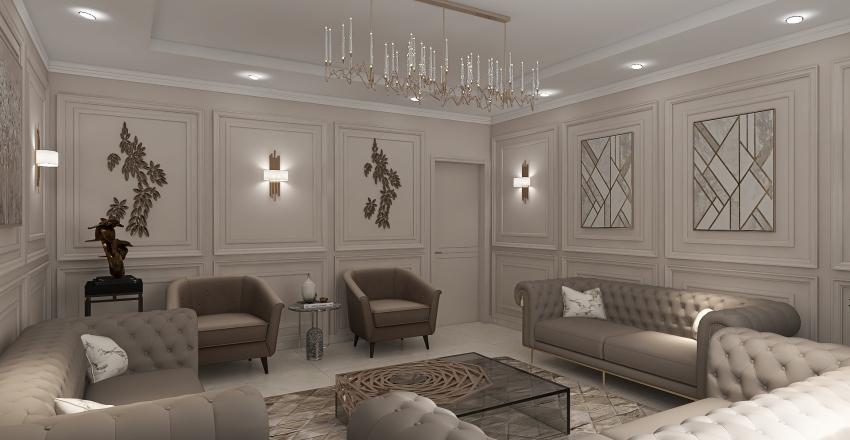 elkouthery women's majlis Interior Design Render