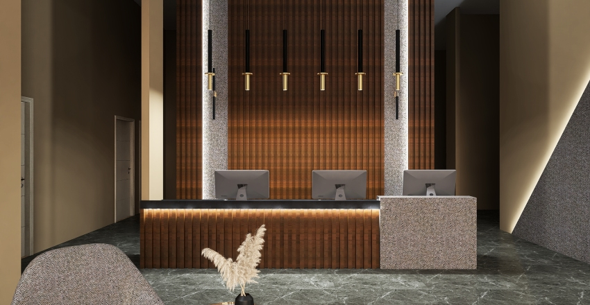 Dentist reception Interior Design Render