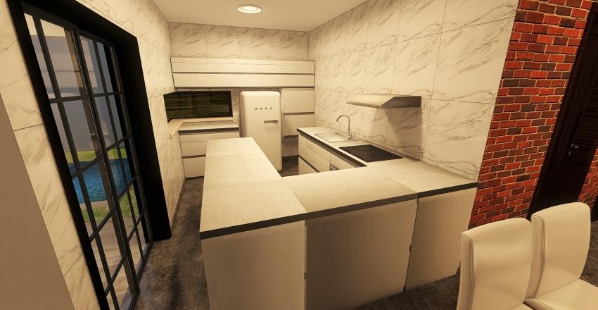 Casa da Kah e Paulo Interior Design Render
