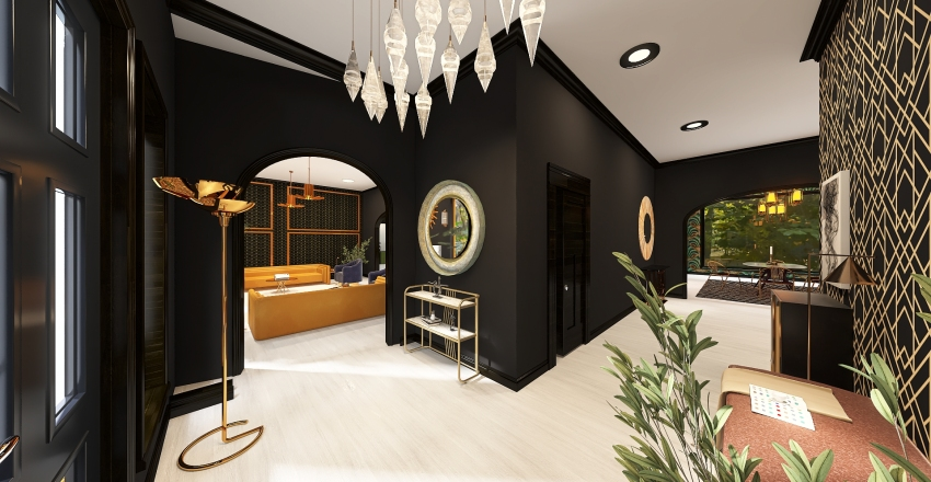 Art Deco Dream Home Interior Design Render