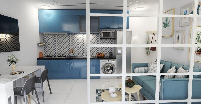 Kitnet 10 - Cyan Interior Design Render