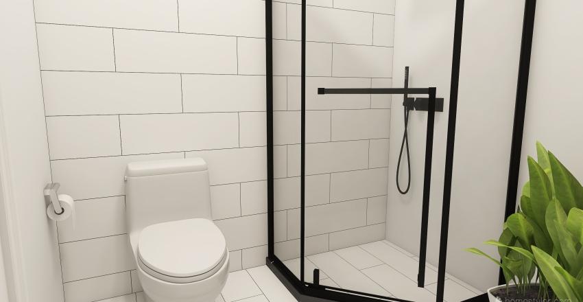 modern living Interior Design Render