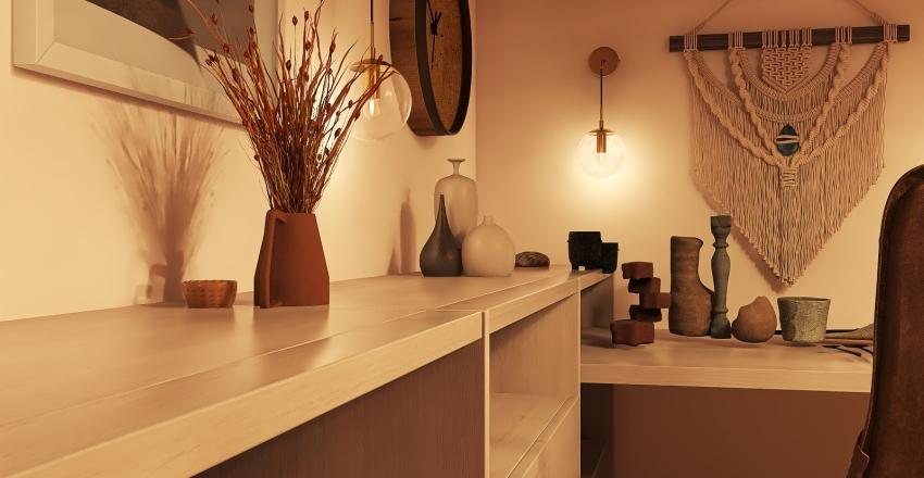 Modern Bohemian Workshop Interior Design Render