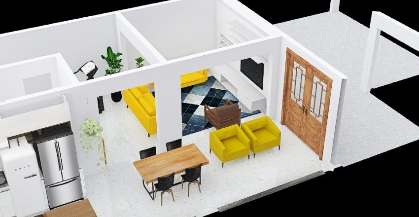 Inferior cimento Interior Design Render