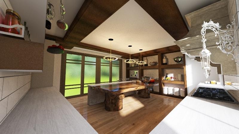farm house kitchen Interior Design Render