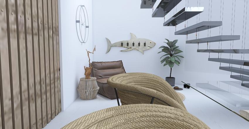Hint At Heart ~ Cozy Loft Interior Design Render