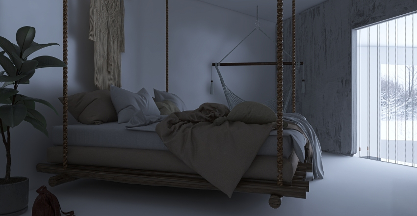 Hint At Heart ~ Cozy Loft Interior Design Render