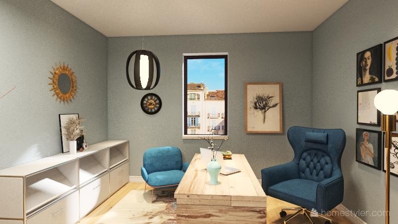 commercial office Interior Design Render