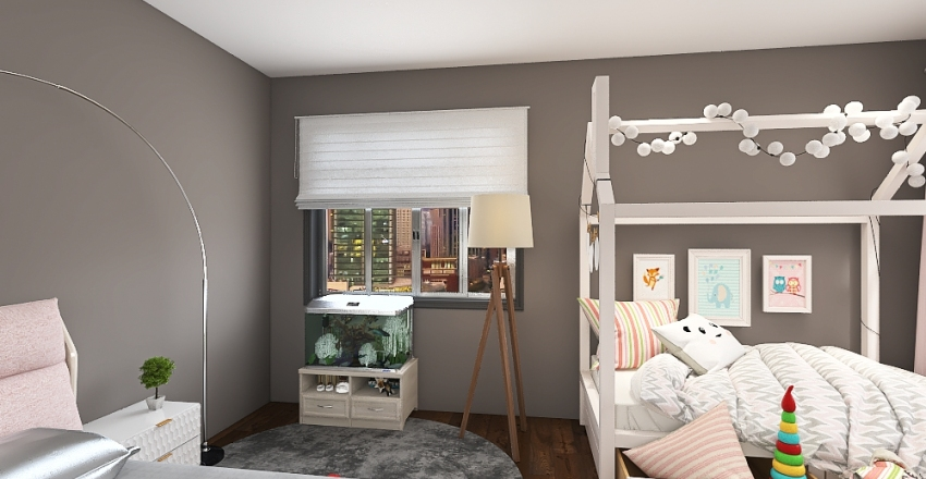 Lil Urban Bedroom Interior Design Render