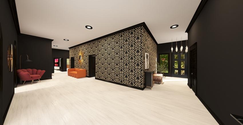 Art Deco Dream Home Interior Design Render