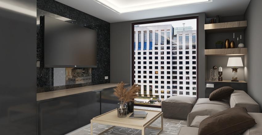 Modern Condo Interior Design Render