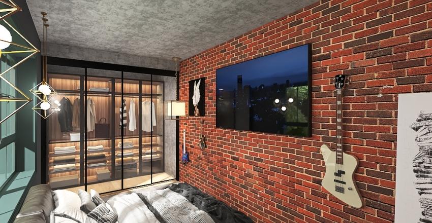 Loft modern house Interior Design Render