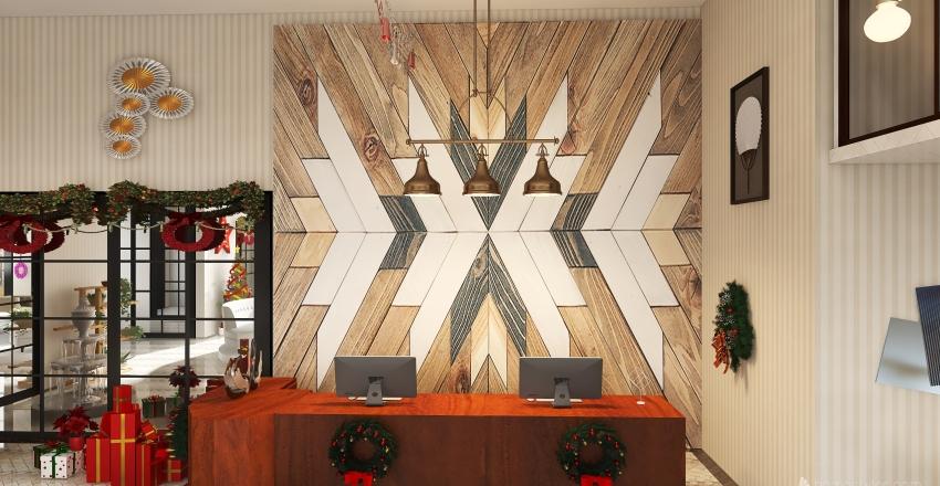 Hotel reception room Interior Design Render