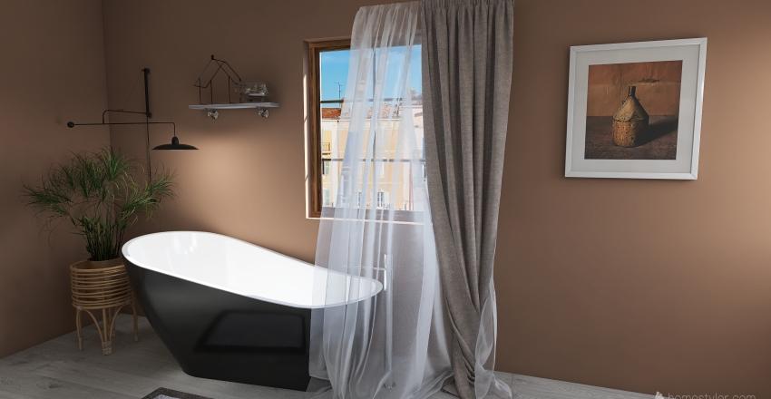 Rustic Bathroom Interior Design Render
