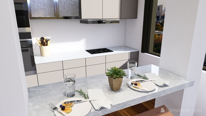 small hotel Interior Design Render