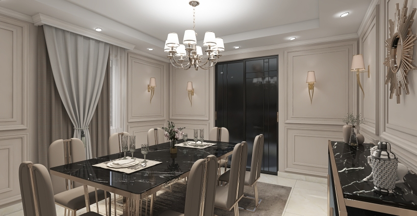 elkouthery dinning room Interior Design Render