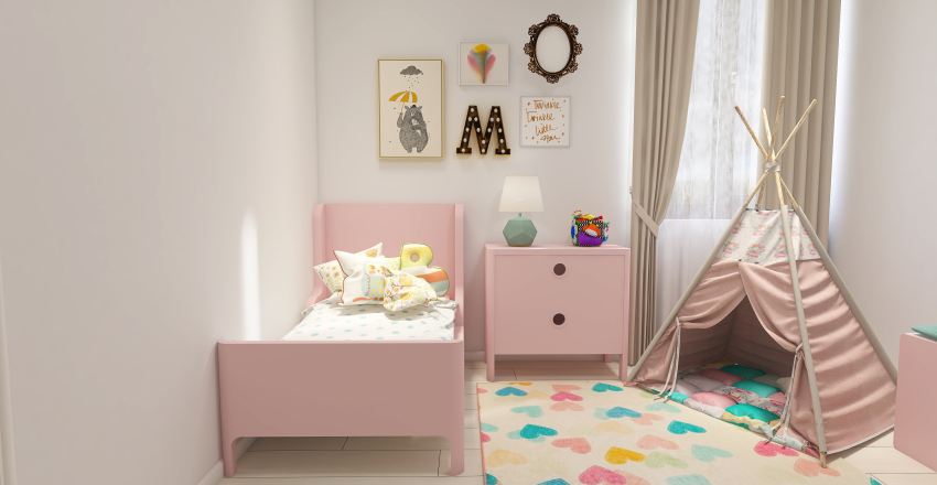 Peaceful Home | Young Family Interior Design Render