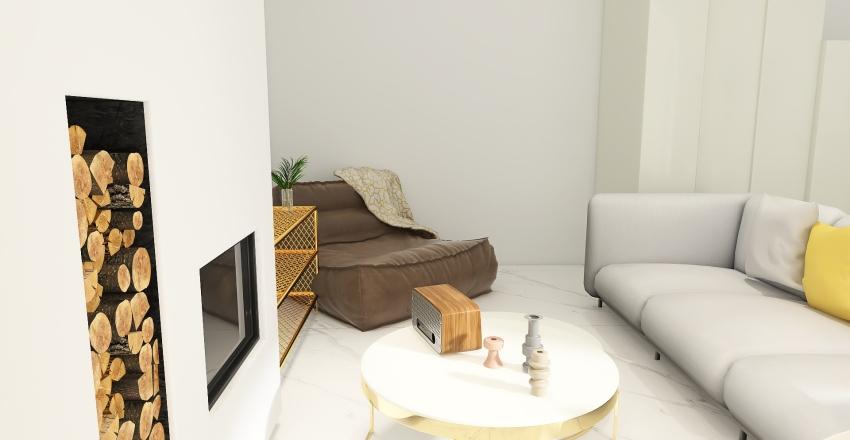 Golden Touch ~ Pantone 2021 Miniature Loft Interior Design Render