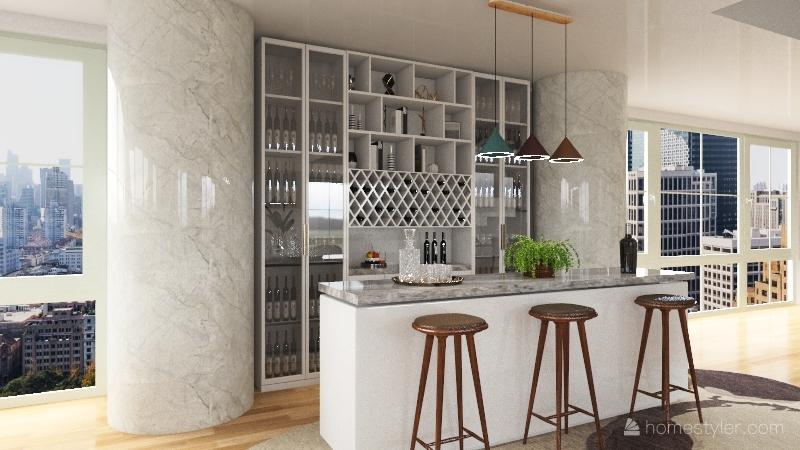Cobertura moderna Interior Design Render