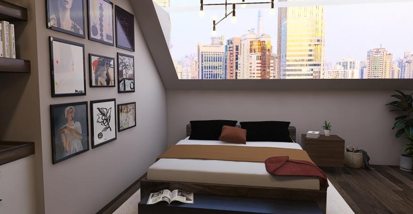 Bedroom light Interior Design Render