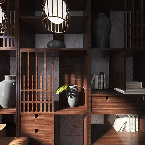 Slightly Industrial Brick Incorporated Interior Design Render