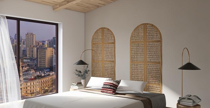 Master Bedroom - Wabi Sabi  Interior Design Render