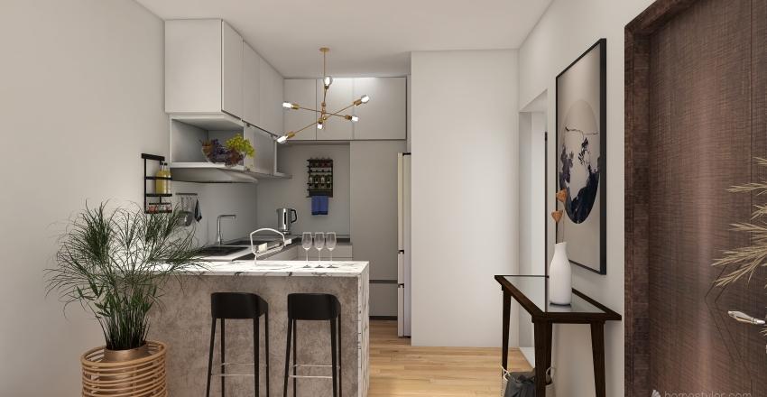 50 m2 apartment Interior Design Render