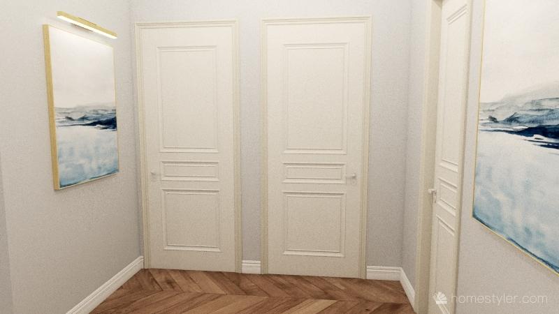 ЖК Столичный коридор и кухня-гостинная Interior Design Render