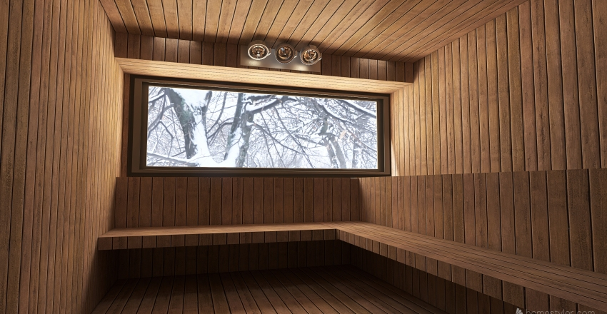 #Sauna Interior Design Render