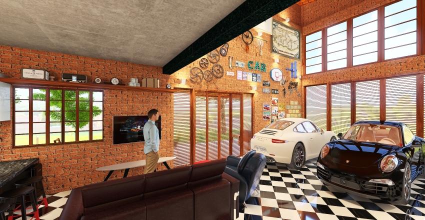 #HSDA2020Residential - Garage House Interior Design Render
