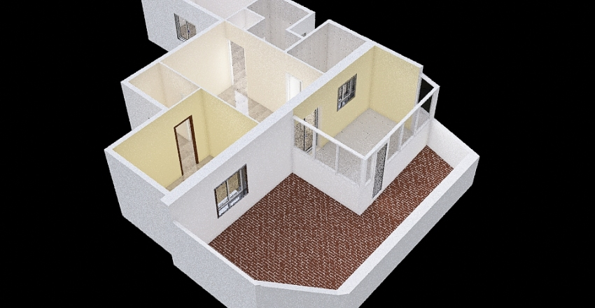 Super Ático Plano Original Interior Design Render