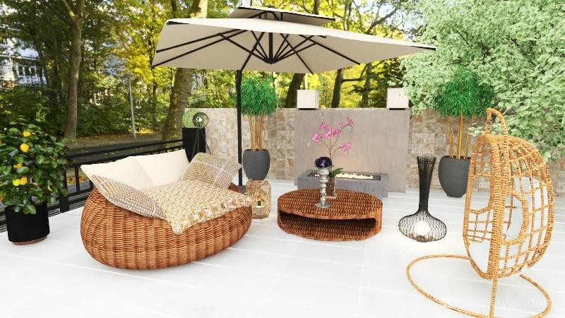 Outdoor Living Space Interior Design Render