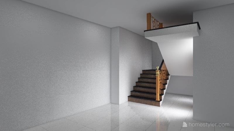 Three Bedroom Small House India Interior Design Render
