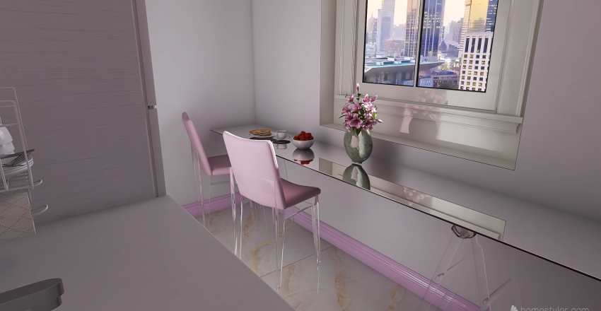 La Vitta è Rosa Di Rosemary Interior Design Render