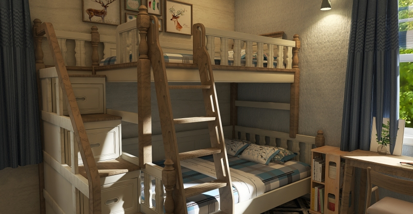 Small farmhouse Interior Design Render