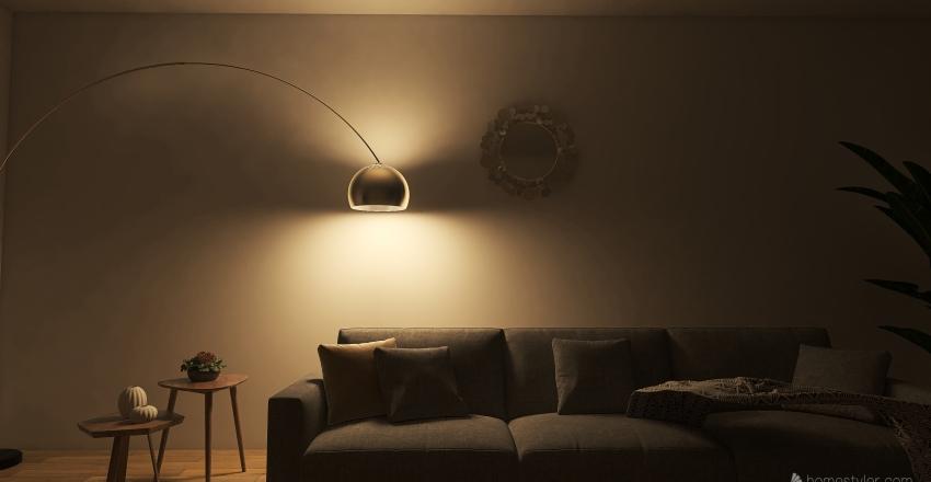 living rome Interior Design Render