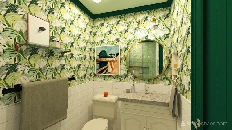 Guest Bath Interior Design Render