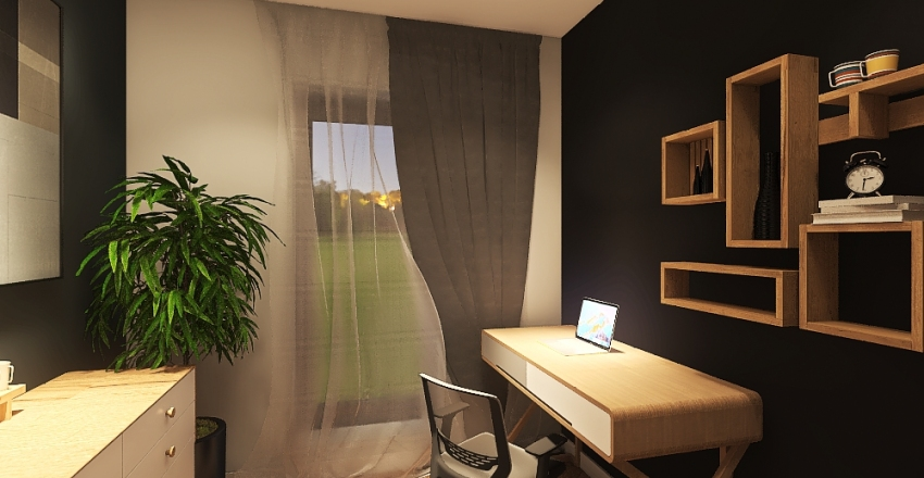 MIESZKANIE M PIĘTRO Interior Design Render