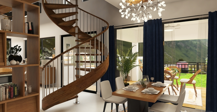 Contemporary in the hills Interior Design Render