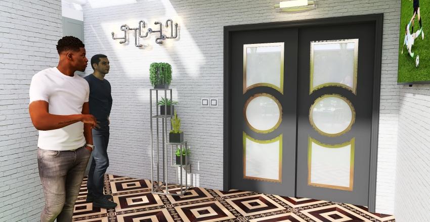 Happy New Year 2020 Interior Design Render