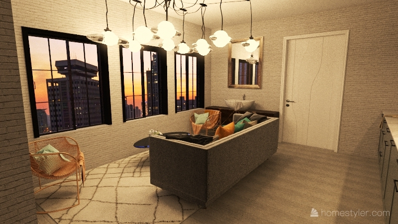 studio 1 Interior Design Render