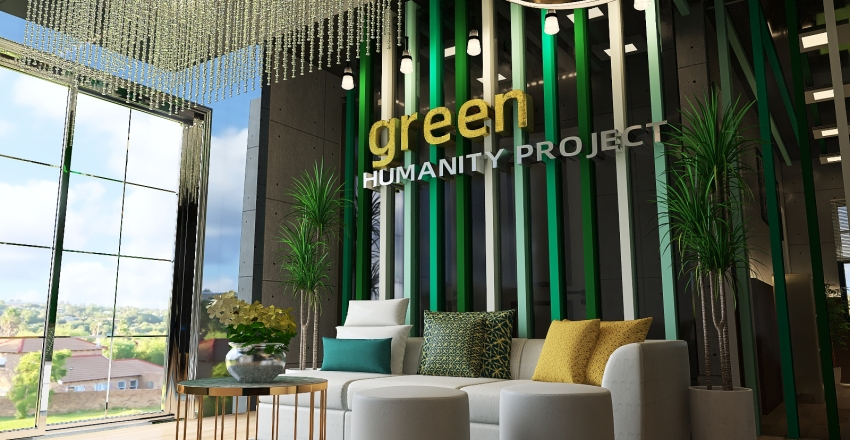 Green  Humanity Project (Proposed 130 SQM NGO Office) Interior Design Render