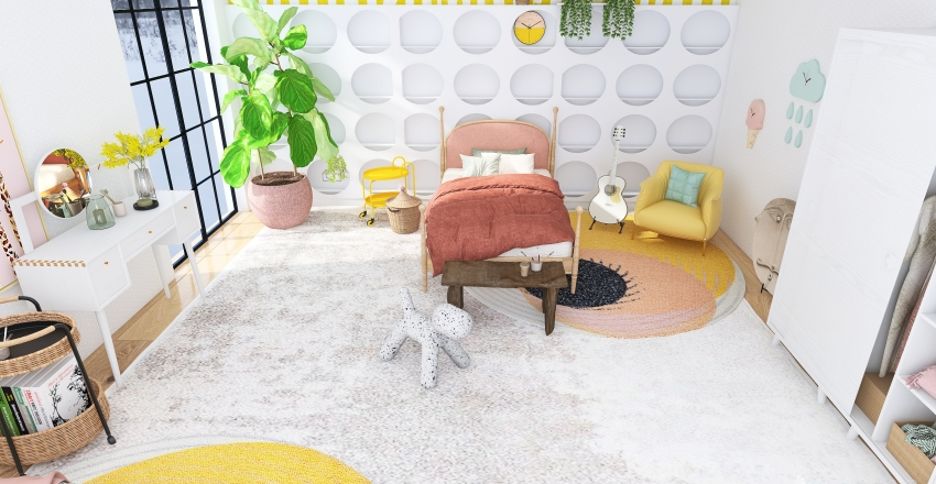 child's bedroom Interior Design Render